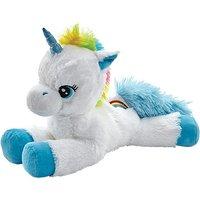 Snuggle Buddies 38cm Soft Rainbow Unicorn - Blue Sapphire