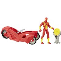 Marvel Ultimate Spider-Man Sinister 6 Web City Cycle Vehicle - Iron Spider with Armour Racer