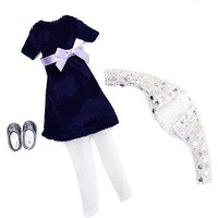 Lottie Doll Blue Velvet Outfit Set