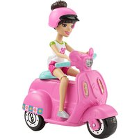 Barbie On The Go? Pink Scooter and Doll