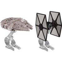 Hot Wheels Star Wars Die Cast Vehicle 2 Pack - TIE Fighter Vs. Millennium Falcon - Geek Gifts