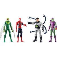 Marvel Spiderman Titan Hero Figure 4 Pack - Spiderman Gifts
