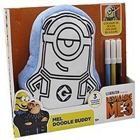 Despicable me 3 Colour Your Own - Mel Blue Doodle Buddy Cushion - Despicable Me Gifts