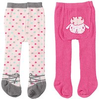 Baby Annabell Tights 2 Pack - Polkadot & Little Lamb Design - Baby Annabell Gifts