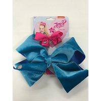 JoJo bow 2 pack with standard size velvet bow Turquoise