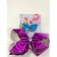 JoJo Siwa Metallic Bow 2 Pack - Hot pink