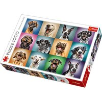 Trefl Funny Dog Portraits Jigsaw Puzzle - 1000 Pieces - Jigsaw Puzzle Gifts