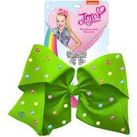 JoJo Siwa 20cm Signature Multi Colored Rhinestone Bow And Necklace Set -Green