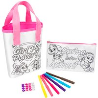Paw Patrol Colour Your Own Bag & Pencil Case Set - Pencil Case Gifts