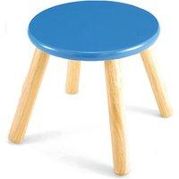Wooden Stool - Blue