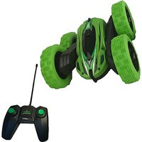 Extreme 360 RC Stunt Double - Side Roll Car - Green - Rc Gifts