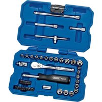 Draper Expert 40 Piece 1/4 Drive Hex Socket & Screwdriver Bit Set Metric & Imperial 1/4
