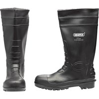 Draper Safety Wellington Boots Black Size 7