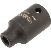 Draper Expert 1/4 Drive Hi Torq Hexagon Impact Socket Metric 1/4 4mm