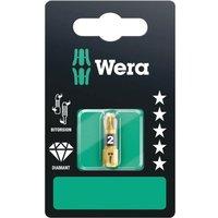 Wera BiTorsion Diamond Pozi Screwdriver Bits PZ2 25mm Pack of 1