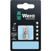Wera Torsion Stainless Steel Pozi Screwdriver Bit PZ2 25mm Pack of 1