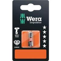 Wera Impaktor Phillips Screwdriver Bits PH2 25mm Pack of 1