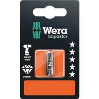 Wera Impaktor Pozi Screwdriver Bits PZ2 25mm Pack of 1