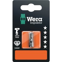 Wera Impaktor Pozi Screwdriver Bits PZ3 25mm Pack of 1