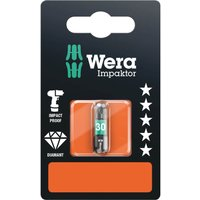 Wera Impaktor Torx Screwdriver Bits T30 25mm Pack of 1
