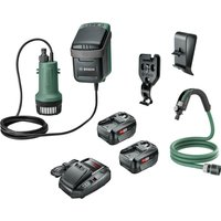 Bosch GARDENPUMP 18 18v Cordless Submersible Water Pump 2 x 4ah Li ion Charger