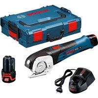 Bosch GUS 12 V-LI 12v Cordless Universal Shears 2 x 2ah Li-ion Charger Case