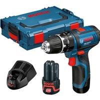 Bosch GSB 12-2-LI 12v Cordless Combi Drill 2 x 2ah Li-ion Charger Case