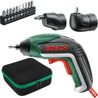 Bosch IXO V 3 6v Cordless Screwdriver and Offset Angle Adaptor 1 x 1 5ah Integrated Li ion Charger Case