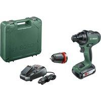 Bosch ADVANCEDDRILL 18v Cordless Drill Driver + 1 Attachments 1 x 2.5ah Li-ion Charger Case