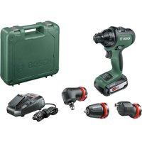 Bosch ADVANCEDDRILL 18v Cordless Drill Driver + 3 Attachments 1 x 2.5ah Li-ion Charger Case