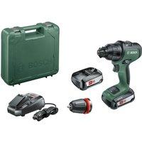Bosch ADVANCEDIMPACT 18v Cordless Combi Drill + 1 Attachment 2 x 2.5ah Li-ion Charger Case