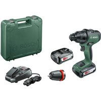 Bosch ADVANCEDIMPACT 18v Cordless Combi Drill   1 Attachment 2 x 2 5ah Li ion Charger Case