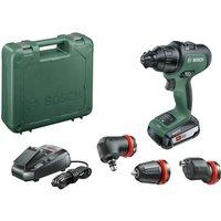Bosch ADVANCEDIMPACT 18v Cordless Combi Drill   3 Attachments 1 x 2 5ah Li ion Charger Case