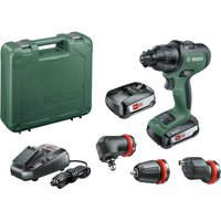 Bosch ADVANCEDIMPACT 18v Cordless Combi Drill   3 Attachments 2 x 2 5ah Li ion Charger Case
