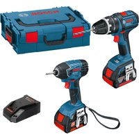 Bosch 18v Cordless Dynamicseries Combi Drill & Impact Driver 2 x 4ah Li-ion Charger Case
