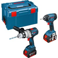 Bosch 18v Cordless Robustseries Combi Drill & Impact Driver 2 x 4ah Li-ion Charger Case