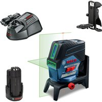 Bosch GCL 2-50 CG 12v Cordless Green Combi Laser Level & RM2 Mount 1 x 2ah Li-ion Charger Case