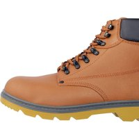Draper Mens Safety Boots Tan Size 7
