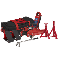 Sealey 1020LE Low Entry Yankee Trolley Jack Kit 2 Tonne Red
