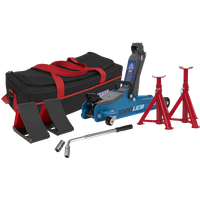 Sealey 1020LE Low Entry Yankee Trolley Jack Kit 2 Tonne Blue