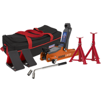 Sealey 1020LE Low Entry Yankee Trolley Jack Kit 2 Tonne Orange