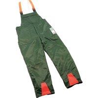 Draper Expert Chainsaw Trousers Green / Orange L