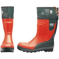 Draper Expert Mens Chainsaw Safety Boots Black / Orange Size 8