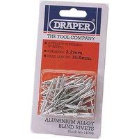 Draper Aluminium Pop Rivets 3.2mm 15.8mm Pack of 50