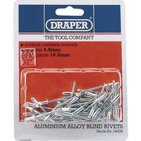 Draper Aluminium Pop Rivets 4mm 10mm Pack of 50