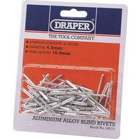 Draper Aluminium Pop Rivets 4mm 15.8mm Pack of 50