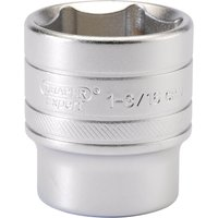 Draper 1/2 Drive Satin Finish Hexagon Socket Imperial 1/2 1 3/16