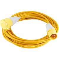Draper Extension Trailing Lead 16amp Yellow Cable 110v 14 Meter