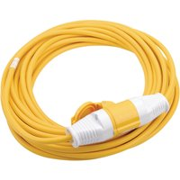 Draper Extension Trailing Lead 32 amp 2.5mm Yellow Cable 110v 14m