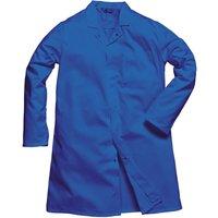 Portwest Mens Single Pocket Food Coat Royal Blue 2XL